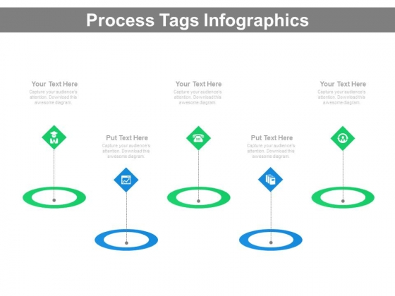 Linear Tags Infographics Diagram Powerpoint Slides