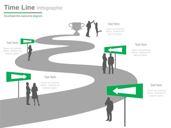 Linear Timeline For Business Communication Powerpoint Slides