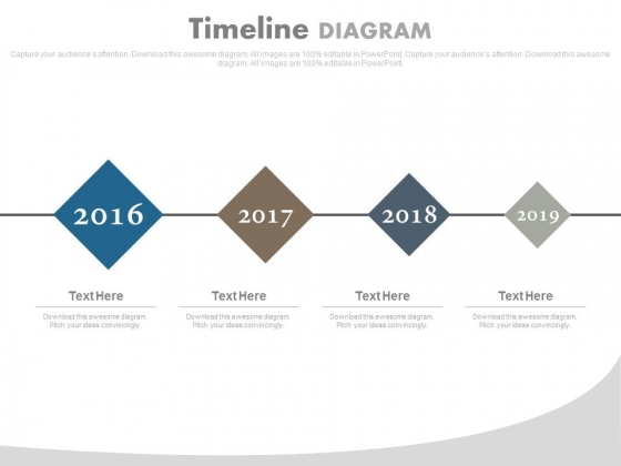Linear Timeline For Upcoming Years Powerpoint Slides