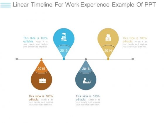 Linear Timeline For Work Experience Example Of Ppt