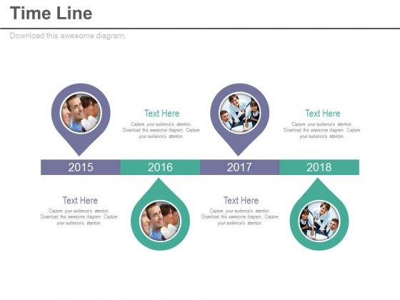 Linear Timeline With Team Management Strategy Powerpoint Slides