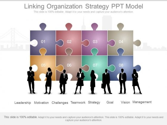 Linking Organization Strategy Ppt Model