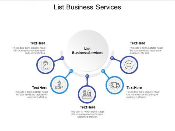List Business Services Ppt PowerPoint Presentation File Smartart Cpb