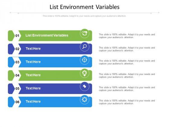 List Environment Variables Ppt PowerPoint Presentation File Picture Cpb Pdf