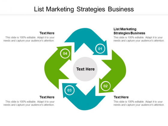 List Marketing Strategies Business Ppt PowerPoint Presentation Pictures Brochure Cpb Pdf