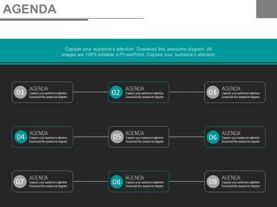 List Of Nine Steps For Business Agenda Powerpoint Slides
