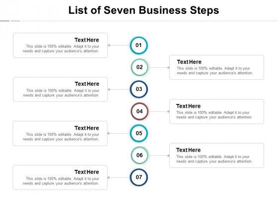 List Of Seven Business Steps Ppt PowerPoint Presentation Background Image
