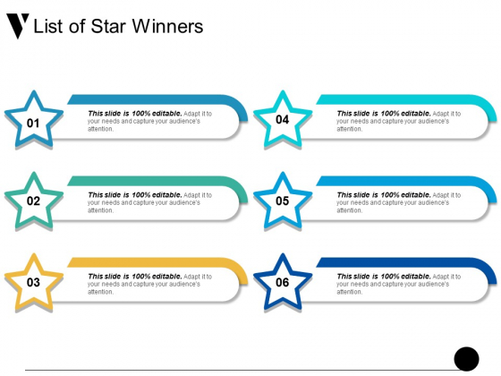List Of Star Winners Ppt PowerPoint Presentation Professional Icons