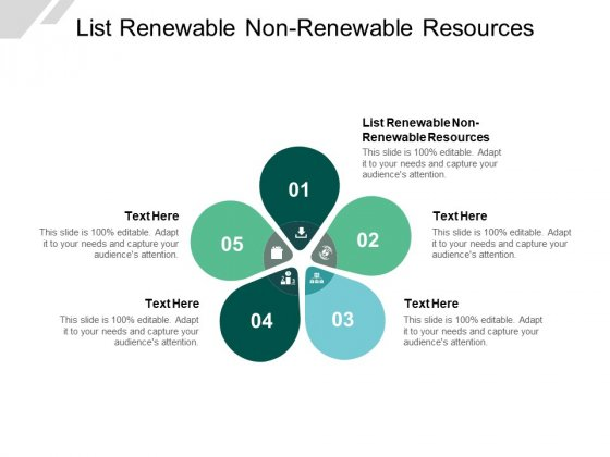 List Renewable Non Renewable Resources Ppt PowerPoint Presentation Portfolio Background Designs Cpb
