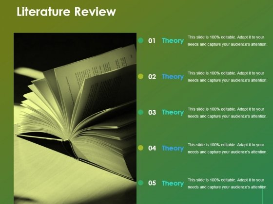 Literature Review Ppt Powerpoint Presentation Show Format
