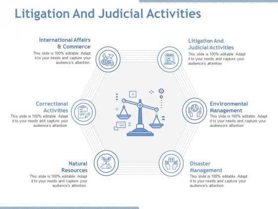 Litigation And Judicial Activities Ppt PowerPoint Presentation Portfolio Template