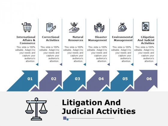 Litigation And Judicial Activities Ppt PowerPoint Presentation Slides Layouts
