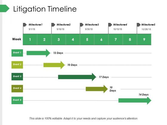 Litigation Timeline Ppt PowerPoint Presentation Ideas Samples