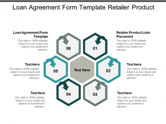 Loan Agreement Form Template Retailer Product Lists Placement Ppt PowerPoint Presentation Outline Maker