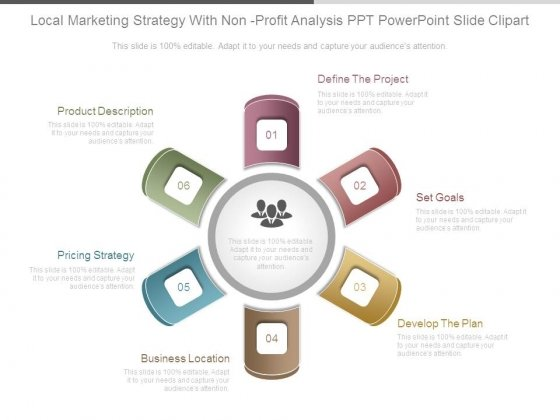 Local Marketing Strategy With Non Profit Analysis Ppt Powerpoint Slide Clipart