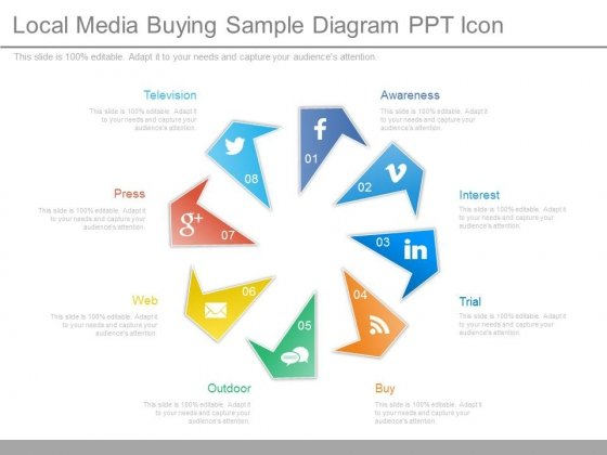 Local Media Buying Sample Diagram Ppt Icon