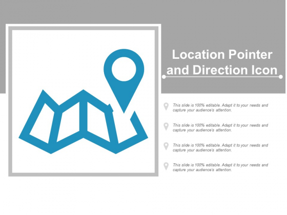 Location Pointer And Direction Icon Ppt Powerpoint Presentation Styles Guidelines