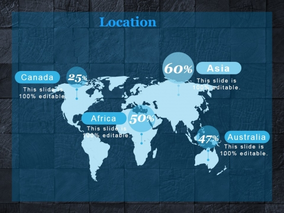 location ppt powerpoint presentation model background