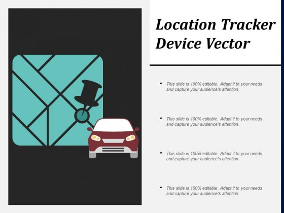 Location Tracker Device Vector Ppt PowerPoint Presentation Show Design Templates