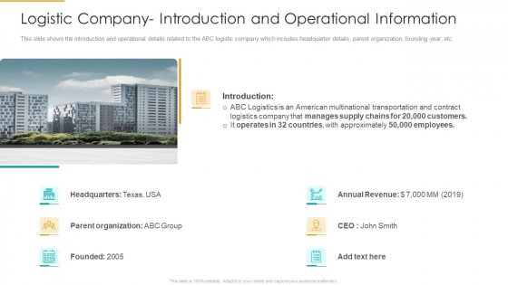 Logistic_Company_Introduction_And_Operational_Information_Designs_PDF_Slide_1