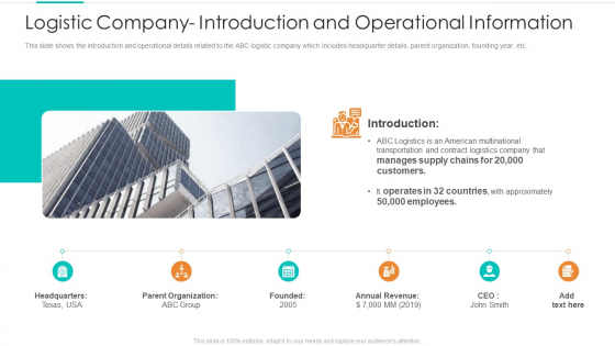 Logistic_Company_Introduction_And_Operational_Information_Download_PDF_Slide_1