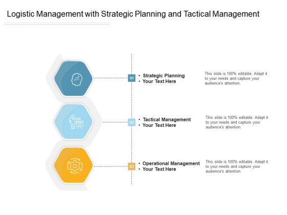 Logistic Management With Strategic Planning And Tactical Management Ppt PowerPoint Presentation Gallery Pictures PDF