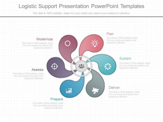 Logistic Support Presentation Powerpoint Templates