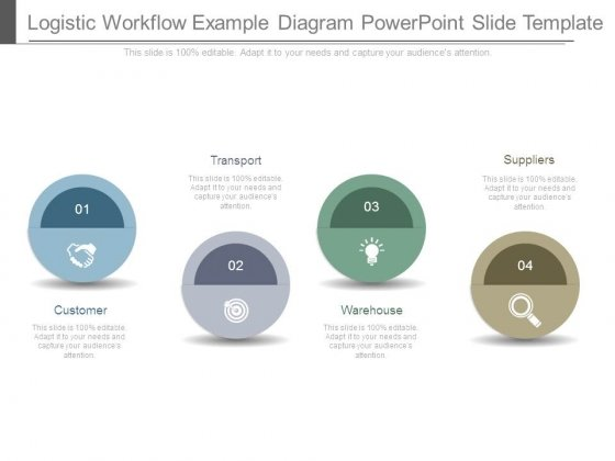 Logistic Workflow Example Diagram Powerpoint Slide Template