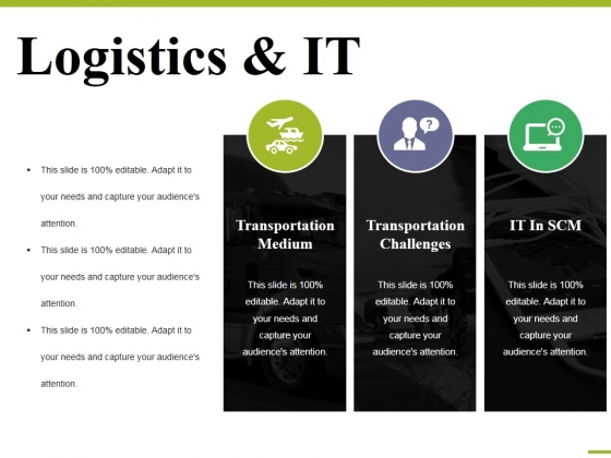 Logistics And It Ppt PowerPoint Presentation Styles Inspiration