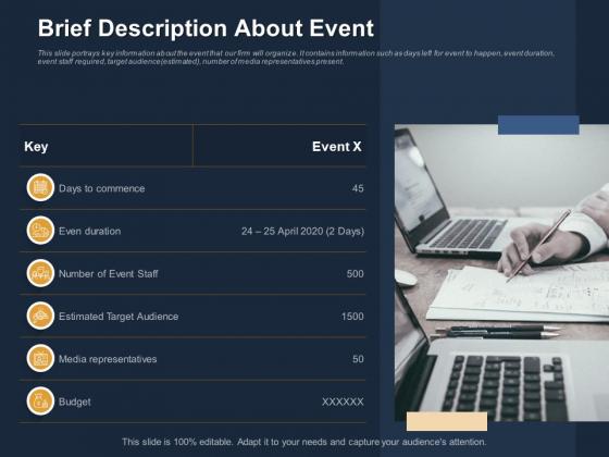 Logistics Events Brief Description About Event Ppt Gallery Ideas PDF