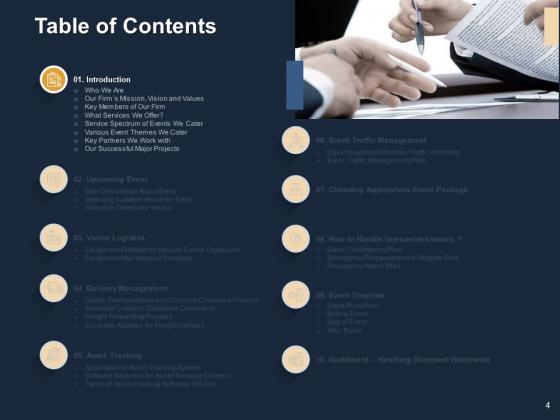 Logistics_For_Events_Ppt_PowerPoint_Presentation_Complete_Deck_With_Slides_Slide_4
