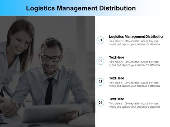 Logistics Management Distribution Ppt PowerPoint Presentation Infographics Information Cpb