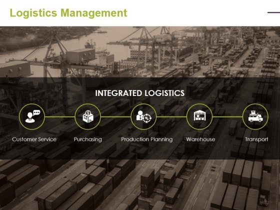 Logistics Management Ppt PowerPoint Presentation Infographics Elements