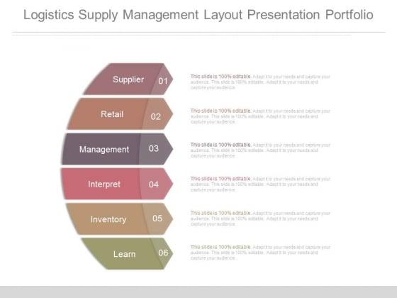 Logistics Supply Management Layout Presentation Portfolio