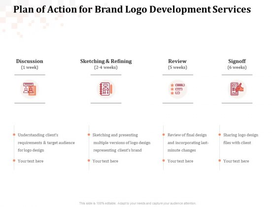 Logo Design Plan Of Action For Brand Logo Development Services Download PDF