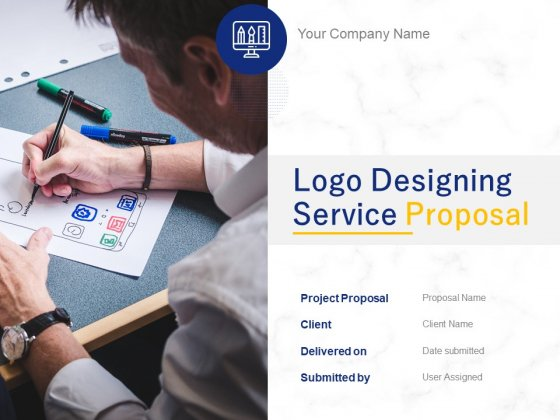 Logo Designing Service Proposal Ppt PowerPoint Presentation Complete Deck With Slides