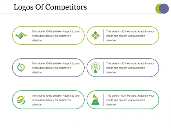 Logos Of Competitors Ppt PowerPoint Presentation Infographics Sample