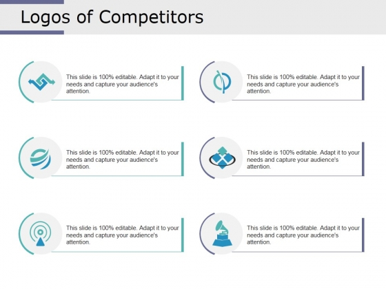 Logos Of Competitors Ppt PowerPoint Presentation Model Deck