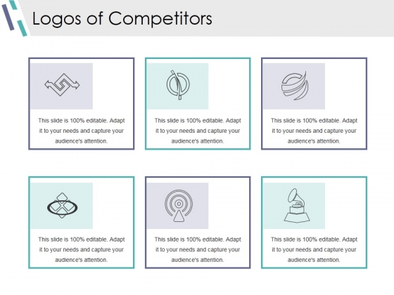 Logos Of Competitors Ppt PowerPoint Presentation Outline Grid