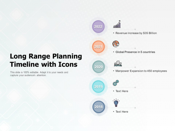 Long Range Planning Timeline With Icons Ppt PowerPoint Presentation Layouts Inspiration