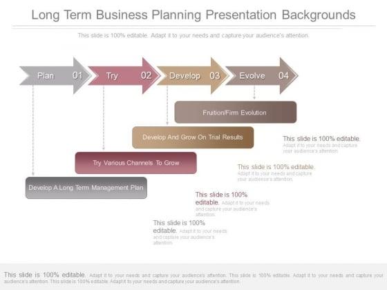 Long Term Business Planning Presentation Backgrounds