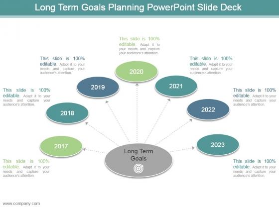 Long Term Goals Planning Powerpoint Slide Deck