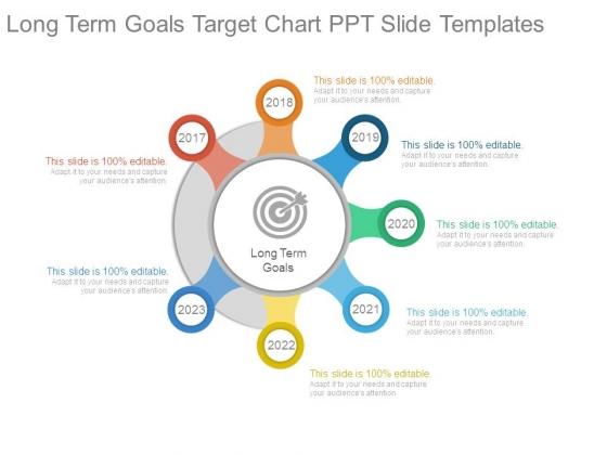 Long Term Goals Target Chart Ppt Slide Templates