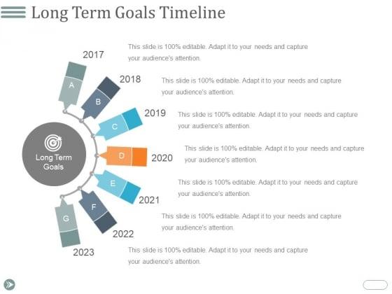 Long Term Goals Timeline Ppt PowerPoint Presentation Microsoft
