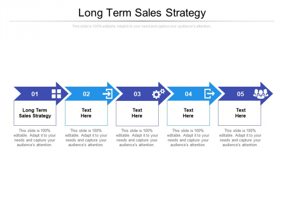 Long Term Sales Strategy Ppt PowerPoint Presentation Professional Objects Cpb Pdf