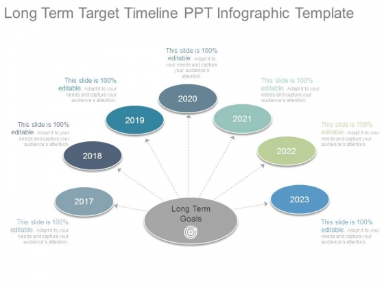 Long Term Target Timeline Ppt Infographic Template