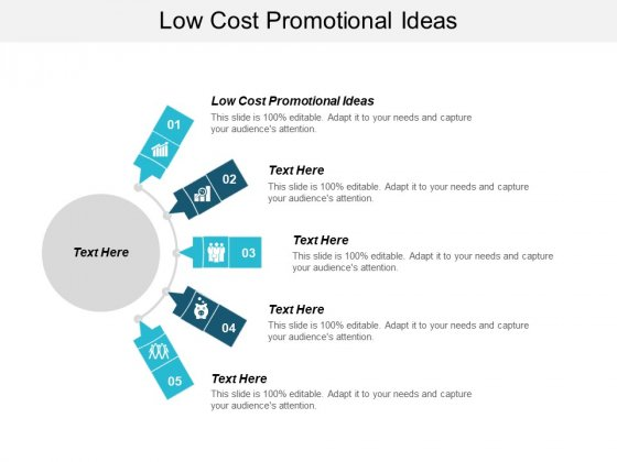 Low Cost Promotional Ideas Ppt PowerPoint Presentation Layouts Smartart Cpb