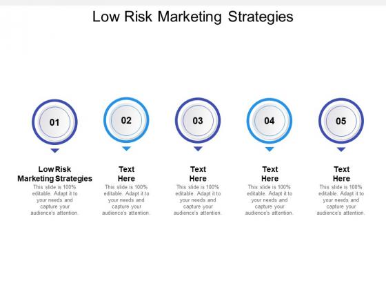 Low Risk Marketing Strategies Ppt PowerPoint Presentation Styles Files Cpb Pdf