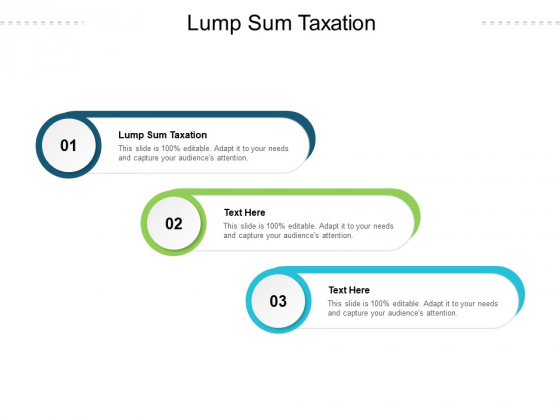 Lump Sum Taxation Ppt PowerPoint Presentation Layouts Deck Cpb Pdf