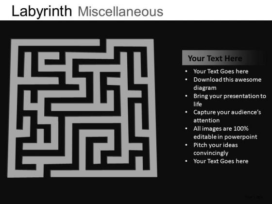 Labyrinth Maze PowerPoint Templates Path Ppt Slides